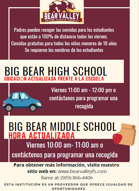 BVUSD Meal Flyer Distance Español.png