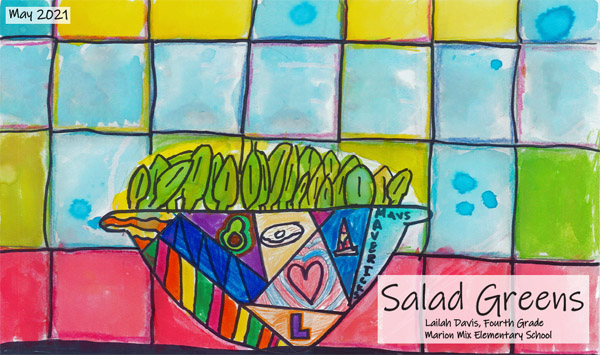 Salad Greens by Lailah Davis, Fourth Grade at Marion Mix Elementary