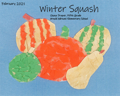 Winter Squash by Chase Draper, Fifth Grade at Arnold Adreani Elementary