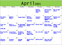 Nutrition Activities April 2021