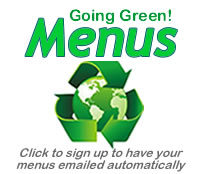 going green menus button