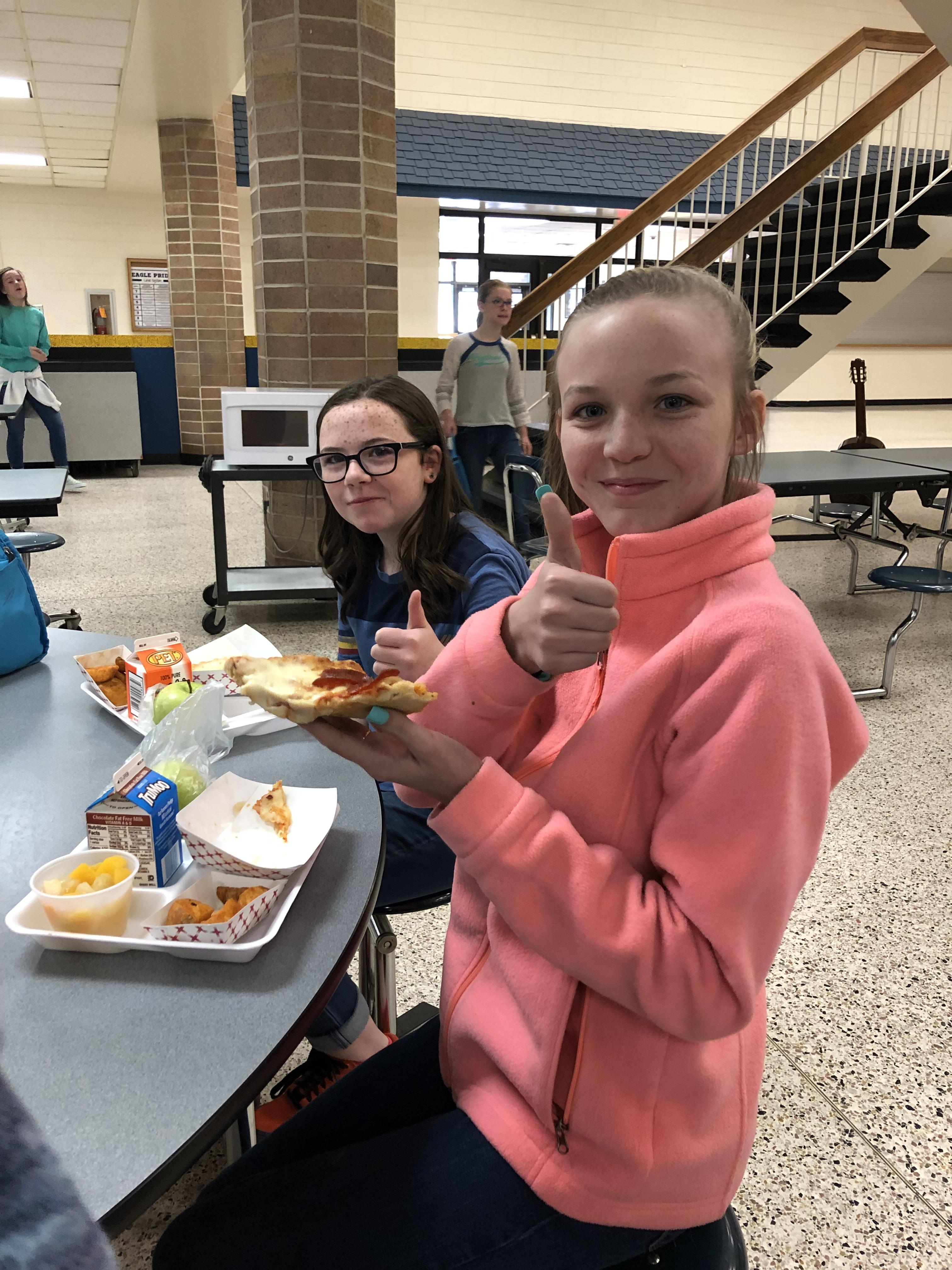 Enjoying School Breakfast