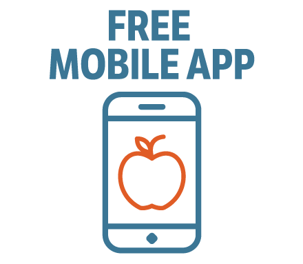 free mobile app button