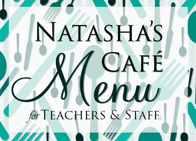 Natashas Cafe Menu