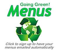going green menus button